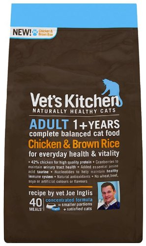 Vet'S Kitchen Chicken & Brown Rice Complete Adult Cat Food 800G (Pack Of 3)