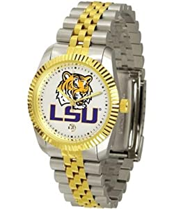 Louisiana State LSU Tigers NCAA Mens Steel Executive Watch by SunTime