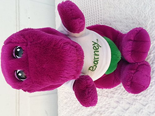 """Barney Plush Vintage 13"""" Closed Mouth front-273993"""