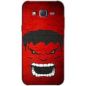 ANGRY PRINTED BACK COVER FOR SAMSUNG J7