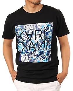 Karl Kani(カールカナイ) ボックス ボタニカル Tシャツ (ブラック・サイズM)