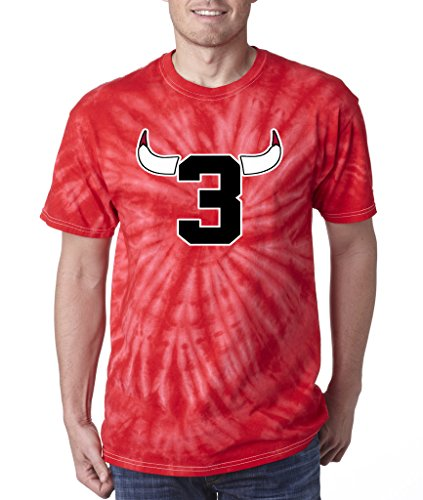 Tie Dye Dwyane Wade Chicago Bulls 3 Logo T Shirt