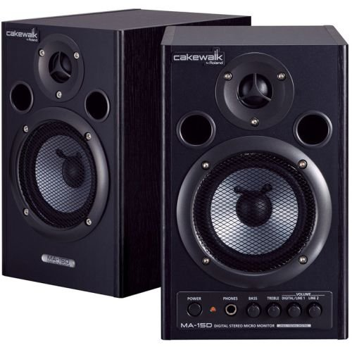 Cakewalk MA-15D Digital Stereo Micro Monitors - Black