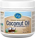 Viva Labs #1 Organic Extra Virgin Coconut Oil - 64 Ounces Value Pack