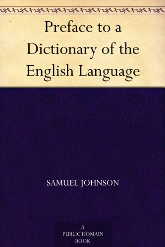 Preface to a Dictionary of the English Language PDF
