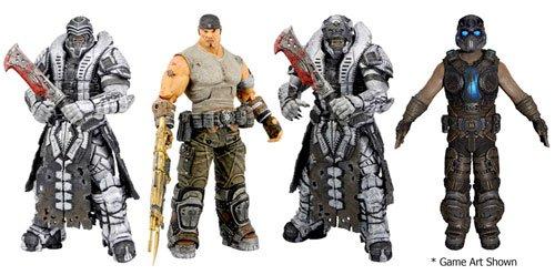"""Neca 7"""" Gears of War 3 - Series 3 Set of 4 Action Figures"""