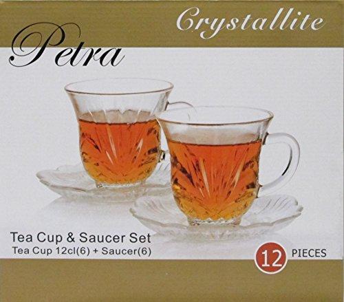 Crystallite Petra Tea Cup(6) & Saucer Set(6)