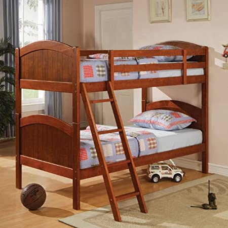 Bunks Twin-Over-Twin Bunk Bed with Rounded Headboard