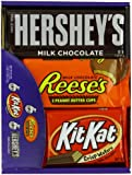 Hershey's Chocolate Variety Pack, 18-Count Box, Total Net WT 27.3 oz.