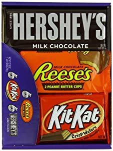 Hershey's Chocolate Variety Pack, 18-Count Box