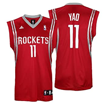 NBA Houston Rockets Yao Ming Road Replica Jersey, Red by adidas