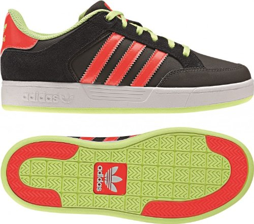 Adidas Originals Unisex-Child Varial J-8 Trainers G98148 Dark Cinder/Pop/Glow 6 UK, 39 EU