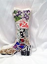 Boot Mosaic Wall Art OOAK Handmade