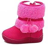 (ダダウン)DADAWEN   ガールズブーツ スノーブーツ  ショートブーツ ベビーブーツ 裏ボア 暖かい 雪天気 保温 柔らかい 軽量 通学 外出 ro-zu 13cm