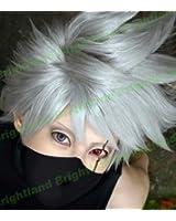 Flyingdragon Hatake Kakashi New Silver Gray Short Cosplay Heat Resistant Wig