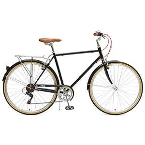 Critical Cycles Beaumont-7 Seven Speed Men's Urban City Commuter Bike, Black, 50cm (Small)