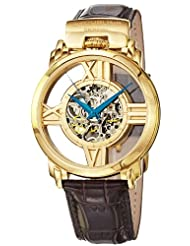 Stuhrling Original 276.333531 Winchester Cross Automatic Skeleton Goldtone Watch