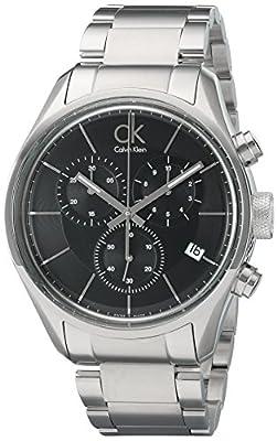 Calvin Klein Men's 'Masculine' Swiss Quartz Stainless Steel Automatic Watch, Color:Silver-Toned (Model: K2H27104)