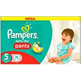 Pampers Baby-Dry Pants Couches Taille 5 (Junior) 12-18 kg - x72 couches