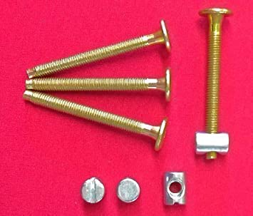 Meubles Boulons de connecteur Zinc plaqu/é lot de 25 M6/x 100/mm