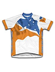 Tierra Del Fuego Province Flag Short Sleeve Cycling Jersey for Women