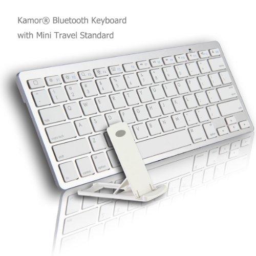[wireless keyboards],Kamor® Ultra Slim Mini Bluetooth 3.0 Wireless Keyboard with Multi-Angle Portable Stand