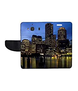 KolorEdge Printed Flip Cover For Xiaomi Redmi 2 - Multicolor