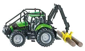 Siku - 3657 - Véhicule Miniature - Modèle À L'échelle - Tracteur Forestier Deutz-fahr Agrotron