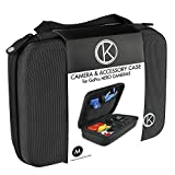 CamKix Medium Case for GoPro Hero 4, 3+, 3, 2, 1 and Accessories - Ideal for Travel or Home Storage - Complete Protection for Your GoPro Camera - Microfiber Cleaning Cloth Included (Medium,Black)
