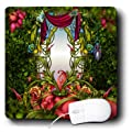 3dRose LLC 8 x 8 x 0.25 Inches Mouse Pad, Fairy Mirror Gardens Flowers, Fairy Land, Beautiful Fantasy Backgrounds (mp_52204_1)