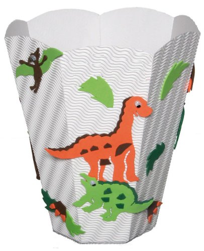 Bastelset Papierkorb – Dinosaurier Mülleimer weiß Junge günstig online kaufen
