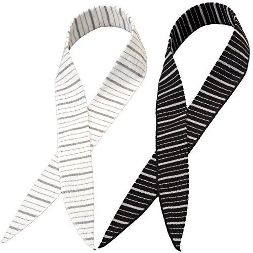 ひんやり 冷感 スカーフ COOL BORDER (クールボーダー) 2色 2枚セット 2p