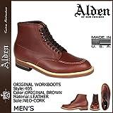 (オールデン) ALDEN オリジナル ワーク インディー ブーツ ORIGINAL WORK INDY BOOTS Dワイズ MADE IN USA レザー メンズ 405 オリジナルブラウン US9.5-27.5 (並行輸入品)