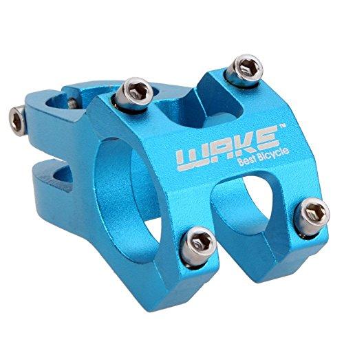 WAKE MTB lega di alluminio della bicicletta e attacco manubrio della bicicletta da montagna 31.8mm(blu)