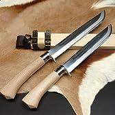 土佐狩猟刀 豊国作8寸 白鋼 磨 槌 tosas-toyo005