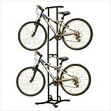 Stoneman Sports DBR-820 Sparehand Freestanding Adjustable 2-Bike Storage Rack for All Frames Types, Black Finish