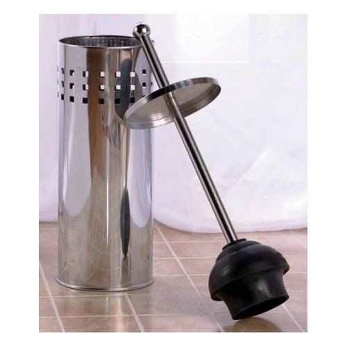 toilet brush holder plunger set stainless steel or bronze set perfect cleaning set bathrooms. Black Bedroom Furniture Sets. Home Design Ideas