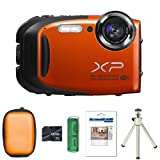Fujifilm FinePix XP70 - Orange + Case + 8GB Card + Multi Card Reader + Screen Protector and Tripod (16.4MP, 5x Optical Zoom, Waterproof to 10m, Shockproof to 1.5m) 2.7-Inch LCD