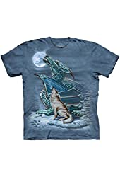The Mountain Dragon Wolf Moon Adult T-shirt