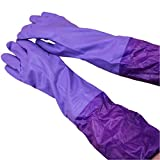 #5: House Of Quirk Reusable Rubber Latex Household Kitchen Long Gloves, Free Size - For Laundry, Dish-Washing, Scrubbing Floors, Gardening Etc