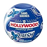 Hollywood - 2Fresh menthe fraiche menthe forte sans sucres 40 dragees sphere - 88g