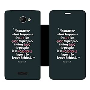 Skintice Designer Flip Cover with hi-res printed Vinyl sticker wrap-around for Micromax A121