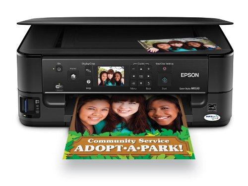 e57374b0ffead Epson Stylus NX530 Wireless All-in-One Color Inkjet Printer Copier ...