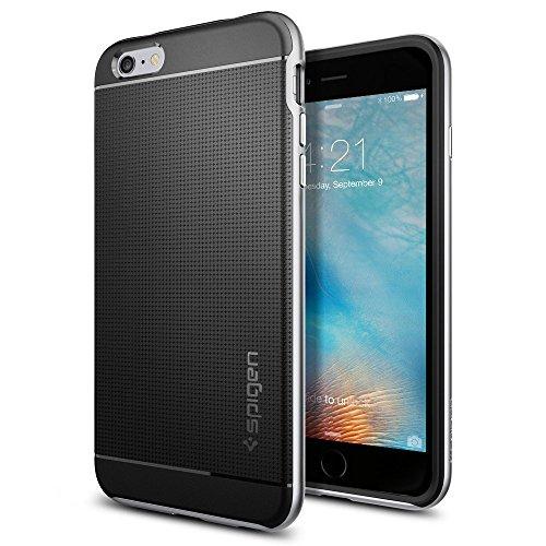 Spigen iPhone6s Plus ケース / iPhone6 Plus ケース, ネオ・ハイブリッド [ 米軍MIL規格取得 二重構造 スリム フィット ] アイフォン6s プラス / 6 プラス 用 カバー (サテン・シルバー SGP11665)