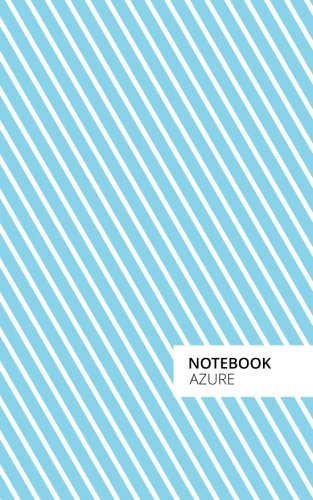 Azure Striped Lined Notebook