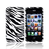 For Apple iPhone 4 Hard Case Cover WHITE AND BLACK Zebra 4G 4th