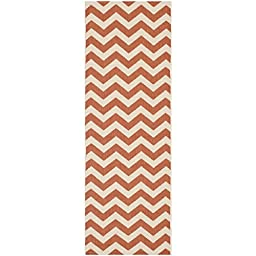 Safavieh Courtyard Collection CY6244-241 Terracotta and Beige Indoor/ Outdoor Runner, 2 feet 3 inches by 8 feet (2\'3\