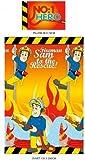 Fireman Sam Flames Reversible Single Rotary Duvet Cover And Pillowcase Set