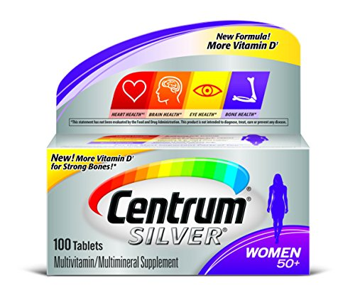Centrum Silver Women 50 Plus Multivitamin/Multimineral Supplement Tablets, 100 Count