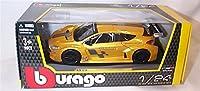 burago gold renault megane trophy car 1.24 scale diecast model